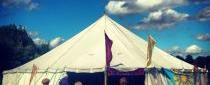 spoken word tent, umbrella's fayre 2013